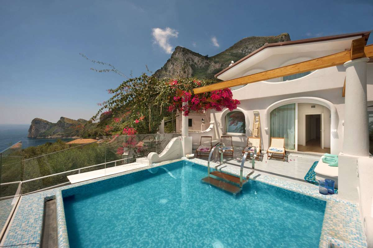 villa rentals in amalfi, sorrento and islands - nerano - villa blu